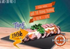 Tặng 1 đĩa thăn cừu hun khói trị giá 190k + giảm 20% hóa đơn tại hun khói BBQ