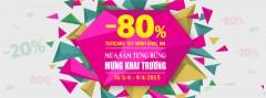 Khai trương cửa hàng số 16 TutiCare khuyến mại 80%