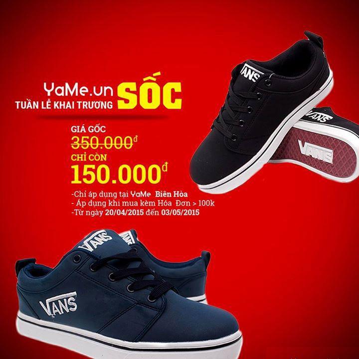 Giày vans giảm giá sốc tại Yame Biên Hòa