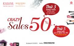 Crazy sales 50% các loại mỹ phẩm Eveline và Skinlovers