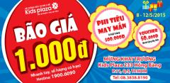 Mừng khai trương bão giá chỉ từ 1k tại KidsPlaza Hồng Bàng