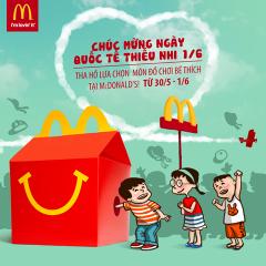 Mừng Quốc tế thiếu nhi McDonald's tặng đồ chơi cho bé