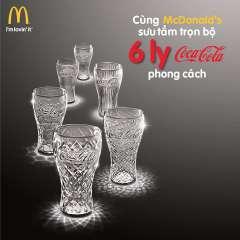 McDonald's tặng miễn phí 1 ly thủy tinh Coca-Cola phong cách
