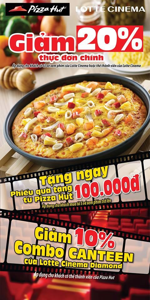 Pizza Hut, Lotte Cinema  khuyen mai