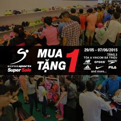 MUA 1 TẶNG 1 Adidas, Nike, New Balance, Crocs tại Supersports