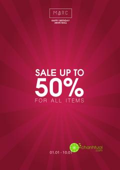 [TPHCM] MARC AEON Mall Tân Phú giảm giá đến 50% tất cả sản phẩm