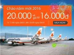 JETSTAR khuyến mãi 2016 – 2000 vé máy bay (cả nội địa và quốc tế) giá chỉ 16k