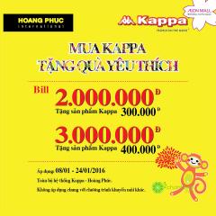 [TPHCM] Hoang Phuc tặng sản phẩm Kappa với hóa đơn từ 2 triệu đồng