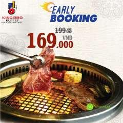 KING BBQ giảm giá Buffet còn 169k tại một số nhà hàng miền Nam