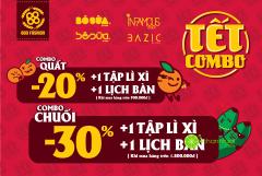 BOO sale đến 30% tất cả sản phẩm + lì xì, tặng lịch mừng Tết Nguyên Đán