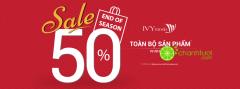 IVY MODA giảm giá 50% toàn bộ sản phẩm mừng Tết Nguyên Đán