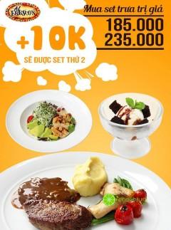 [HÀ NỘI] Al Fresco's ưu đãi khách hàng dùng Set trưa thứ 2 với giá chỉ 10k