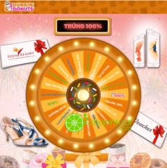 Dunkin' Donuts khuyến mãi quay số trúng thưởng 100% mừng Tết Nguyên Đán