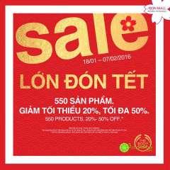 [TPHCM] THE BODY SHOP AEON MALL Tân Phú khuyến mãi giảm giá tới 50%