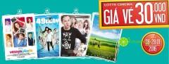 LOTTE CINEMA khuyến mãi xem 4 bộ phim phim đồng giá chỉ 30k!