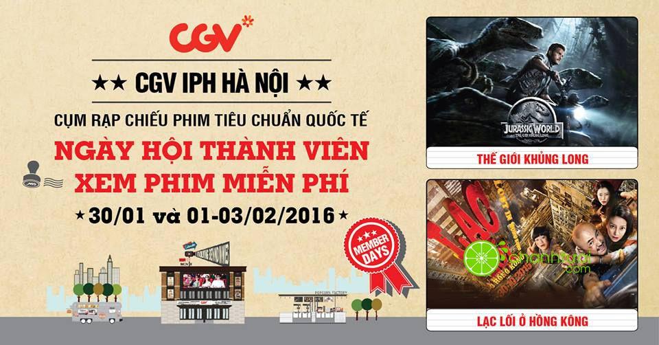 Tưng bừng khai trương CGV IPH Hà Nội tặng vé xem phim miễn phí-1