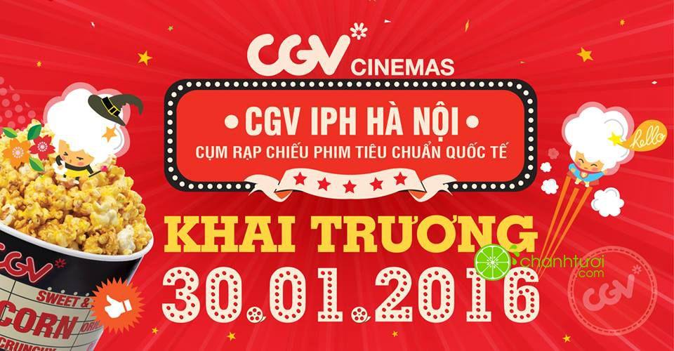 Tưng bừng khai trương CGV IPH Hà Nội tặng vé xem phim miễn phí