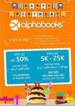 Ưu đãi Alpha Books 30% và 50% các đầu sách ngoài nhân dịp sinh nhật