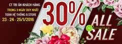 B.store giảm giá toàn bộ 30% trên toàn hệ thống- tri ân cuối năm
