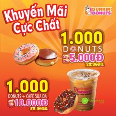Tiếp tục chuỗi sự kiện khuyến mại khai trương Dunkin' Donuts