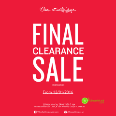 Sự kiện FINAL CLEARANCE SALE 50%++ từ Miss Selfridge