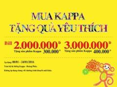 Tặng quà yêu thích giá trị lên tới 400 000đ dịp năm mới từ Kappa
