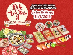 Đi 4 trả tiền 3 mừng Tất niên tại  Maneki Neko - Shabu & Sushi