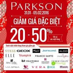 Parkson khuyến mại đặc biệt giảm 20 - 50% toàn bộ sản phẩm