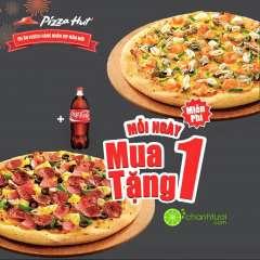 Pizza Hut khuyến mãi mua 1 tặng 1 mang về tháng 3/2016