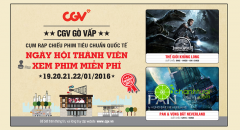 CGV Gò Vấp khai trương- xem phim miễn phí và CT quay số trúng quà