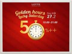 Lotte Department ưu đãi vàng Golden Hour tới 50% cho hơn 40 nhãn hàng