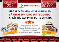 LOTTE CINEMA khuyến mãi vé 50k cho khách hàng Vinaphone