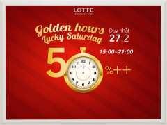 [HÀ NỘI] Giờ vàng giảm giá 50% tại Lotte Department Store duy nhất 27/02