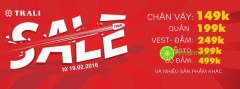 Thời trang Trali khuyến mãi Final Sale – đồng giá chỉ từ 149k