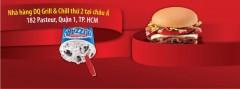 [TPHCM] Dairy Queen khuyến mãi Burger Bò Nướng Phô Mai giá dùng thử 35k