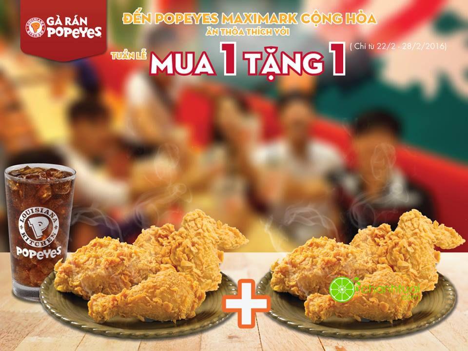 popeyes-maximark-cong-hoa-khuyen-mai-crazy-week-mua-1-tang-1
