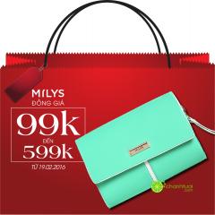 MILYS khuyến mãi đồng giá toàn bộ sản phẩm chỉ từ 99k