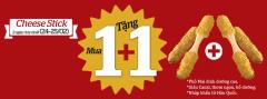 LOTTERIA khuyến mãi mua 1 tặng 1 Cheese Stick tháng 2/2016