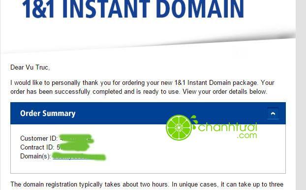1&1 giảm giá domain còn 0.99USD