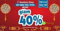 Domino's Pizza giảm 40% cho đặt hàng online