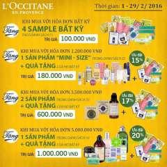 L'Occitane ưu đãi quà tặng tương đương tới 20%n đơn hàng