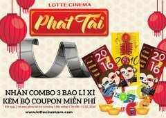 Lotte Cinema khuyến mãi tặng bao lì xì phát tài tết 2016 miễn phí