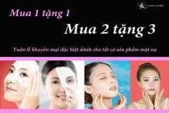 Lovely Korea ưu đãi mua 1 tặng 1, mua 2 tặng 3 cho các loại Mask
