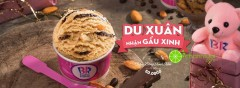 Baskin-Robbins khuyến mãi tặng 1 gấu xinh cho mỗi viên kem