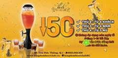 Kingdom Beer Club ưu đãi 50% giá bia tháp đón Tết