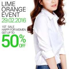 Lime Orange ưu đãi tới 50% trên hệ thống mừng ngày 8/3
