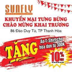 Tặng ngay áo T-shirt 129k cho hóa đơn từ 300k mừng khai trương Sunfly