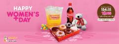 Dunkin' Donuts khuyến mãi Quốc tế Phụ nữ 8/3 – tặng gấu bông cao cấp
