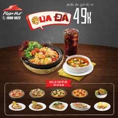 Pizza Hut khuyến mãi phần ăn QUÁ ĐÃ giá chỉ từ 49k