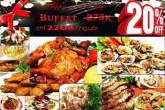 Nhà hàng Hoa Tuyết khuyến mãi 8/3 – buffet sang trọng chỉ từ 200k~220k